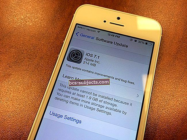 Apple vydává iOS 7.1; jak aktualizovat