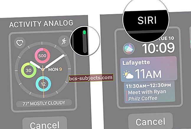 Jak nastavit Siri Face na Apple Watch