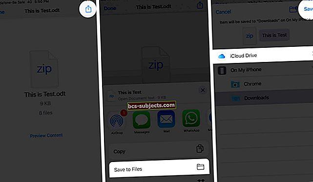 كيفية حفظ الصور المرفقة على جهاز iPad