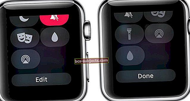 Como editar o Control Center no Apple Watch