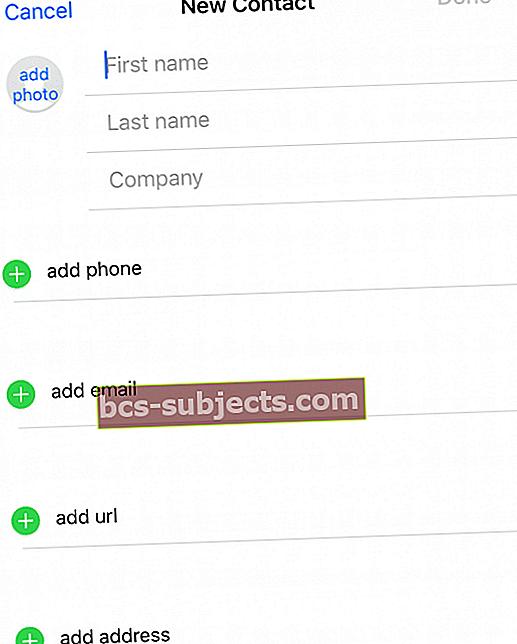 posti kontakti
