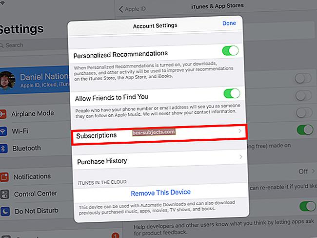 Cách hủy đăng ký ứng dụng trên iPhone hoặc iPad của bạn