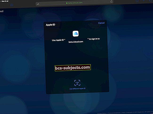 Kuidas oma iPhone'is või iPadis saidile iCloud.com sisse logida