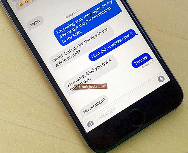 SMS-ide saatmine iPadis ja Macis