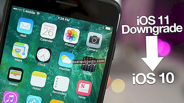 Kuidas minna iOS 10-st üle iOS 9-le